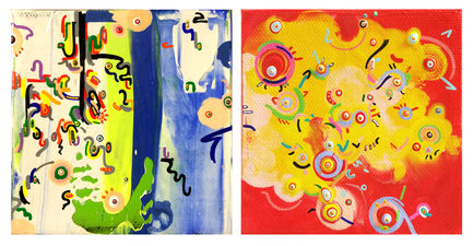 YEJI JUN recent painting acrylic on canvas (2 paintings together)
