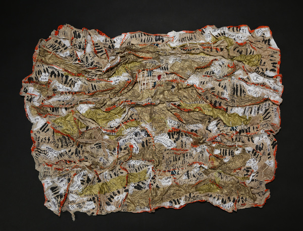 Zia Gipson Cast Paper cast paper, twine, acrylic paint, ink